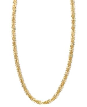 """""""14k Gold Necklace, 20"""""""" Faceted Chain"""""""