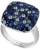 Effy Sapphire Ring (3-1/5 Ct. T.w.) In Sterling Silver