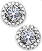 Trumiracle Diamond Earrings, Sterling Silver Diamond Halo Stud Earrings (1/5 Ct. T.w.)