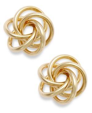 10k Gold Earrings, Open Love Knot Earrings