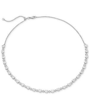 Arabella Swarovski Zirconia 16 Collar Necklace In Sterling Silver