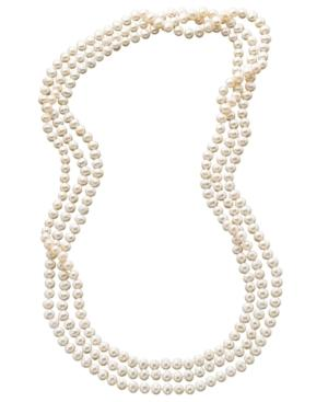 """""""pearl Necklace, 100"""""""" Cultured Freshwater Pearl Endless Strand Necklace"""""""