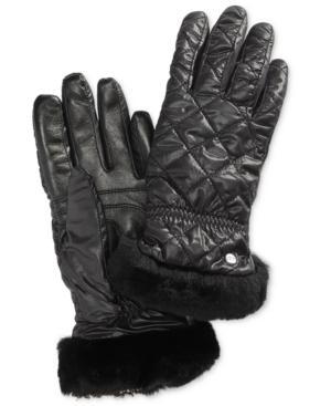 Ugg Shearling-trim Touchscreen Gloves