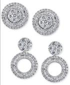Effy Diamond Cluster Stud Convertible Jacket Earrings (1 Ct. T.w.) In 14k White Gold Or Gold