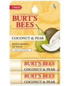 Burt's Bees Lip Balm, Coconut & Pear Blister Box 2-pack