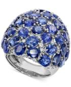 Sapphire (15 Ct. T.w.) And Diamond (2/3 Ct. T.w.) Ring In 14k White Gold