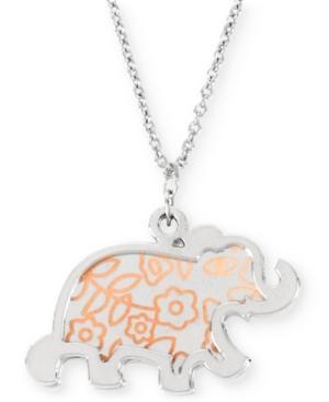 Betsey Johnson Silver-tone Elephant Pendant Necklace
