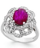 Ruby (2 Ct. T.w.) And Diamond (3/4 Ct. T.w.) Ring In 14k White Gold
