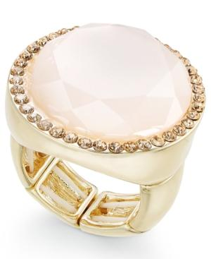 Inc International Concepts Gold-tone Pink Stone & Pave Ring, Only At Macy's