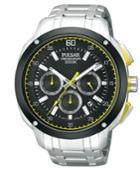 Pulsar Men's Chronograph Stainless Steel Bracelet Watch 45mm Pt3393