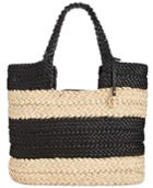 Giani Bernini Striped Tote, Only At Macy's