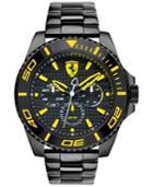 Scuderia Ferrari Men's Xx Kers Black Ion-plated Stainless Steel Bracelet Watch 50mm 830309
