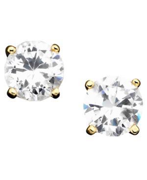 Giani Bernini 18k Gold Over Sterling Silver Earrings, Cubic Zirconia Stud (2 Ct. T.w.)