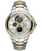 Seiko Men's Courtura Perpetual Chronograph Solar Two-tone Stainless Steel Bracelet Watch 44mm Ssc560