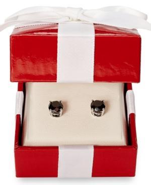 14k White Gold Earrings, Black Diamond Stud Earrings (2 Ct. T.w.)