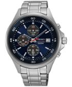 Seiko Men's Chronograph Special Value Stainless Steel Bracelet Watch 43mm Sks475