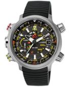 Citizen Watch, Men's Chronograph Eco-drive Promaster Altichron Black Rubber Strap 50mm Bn5030-06e