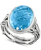 Peter Thomas Roth Blue Topaz Statement Ring (13 Ct. T.w.) In Sterling Silver