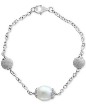 Final Call By Effy Cultured Freshwater Pearl (11mm) Link Bracelet In Sterling Silver