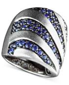 Balissima By Effy Sapphire Stripe Band Ring (2-1/3 Ct. T.w.) In Sterling Silver