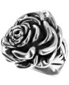 King Baby Rose Ring In Sterling Silver