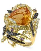 Le Vian Citrine (9-1/10 Ct. White Topaz (1/2 Ct. Chocolate Diamond (2/5 Ct. T.w.) And Garnet (1/5 Ct. T.w.) Ring In 14k Gold