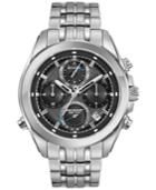 Bulova Men's Chronograph Precisionist Stainless Steel Bracelet Watch 45mm 96b260