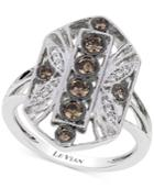 Le Vian Chocolatier Chocolate Deco Estate Diamond (1/2 Ct. T.w.) Ring In 14k White Gold