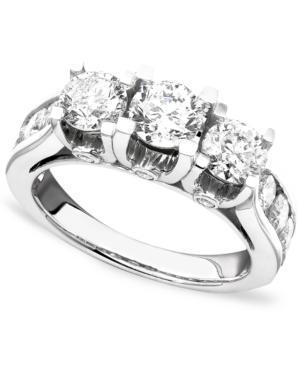 Diamond Ring, 14k White Gold Diamond (3 Ct. T.w.)