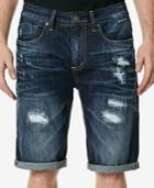 Buffalo David Bitton Men's Parker-x Destroyed Denim Shorts