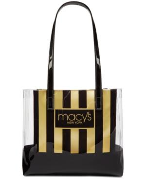 Macy's Stripe & Clear Tote, Only At Macy's