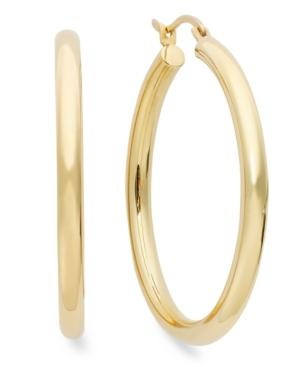 14k Gold Earrings, Signature Gold Hoop Earrings