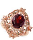 Effy Rhodolite Garnet (3 Ct. T.w.) & Diamond (1/4 Ct. T.w.) Ring In 14k Rose Gold