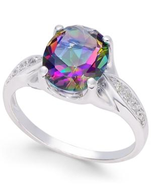 Mystic Topaz (3 Ct. T.w.) And Diamond Accent Ring In 14k White Gold