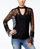 Guess Laurie Sheer Lace Top