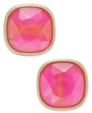 Abs By Allen Schwartz Gold-tone Colorful Stone Stud Earrings