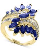 Effy Sapphire (3-1/5 Ct. T.w.) & Diamond (3/8 Ct. T.w.) Ring In 14k Gold