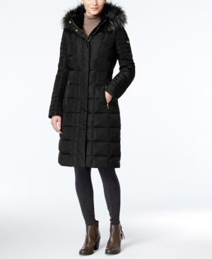 Calvin Klein Faux-fur-trim Hooded Down Puffer Coat