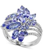 Effy Tanzanite Royale Tanzanite (4 Ct. T.w.) And Diamond (1/5 Ct. T.w.) Ring In 14k White Gold