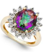 Mystic Topaz (4 Ct. T.w.) And Diamond Accent Ring In 14k Gold