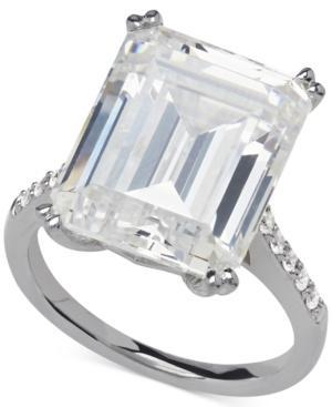 Arabella Swarovski Zirconia Statement Ring In Sterling Silver (22-7/8 Ct. T.w.)