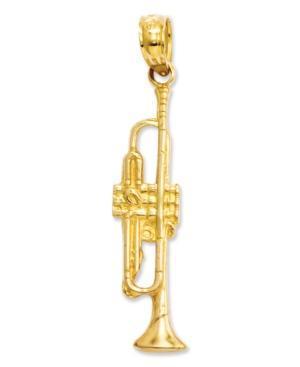 14k Gold Charm, Trumpet Charm