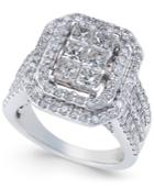 Diamond Engagement Ring (3 Ct. T.w.) In 14k White Gold