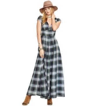 Denim & Supply Ralph Lauren Plaid Surplice Maxi Dress