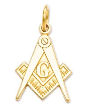 14k Gold Charm, Masonic Charm
