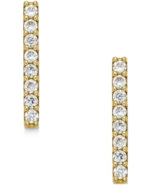 Cubic Zirconia Bar Stud Earrings (2/5 Ct. T.w.) In 10k Gold