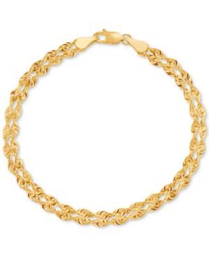 Double Singapore Chain Bracelet In 14k Gold