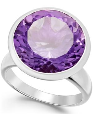 Amethyst Statement Ring (11 Ct. T.w.) In Sterling Silver