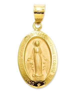 14k Gold Charm, Miraculous Medal Charm