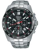 Pulsar Men's Solar Chronograph Stainless Steel Bracelet Watch 45mm Pz5005